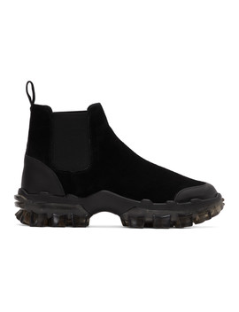 Black Ayden Chelsea Boots by Moncler