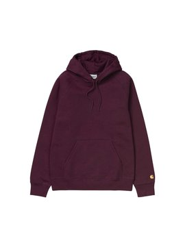 Carhartt Wip Hooded Chase Sweat Merlot Gold Carhartt Wip Hooded Chase Sweat Merlot Gold by Carhartt