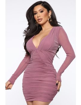 You're My Kind Mesh Mini Dress   Mauve by Fashion Nova