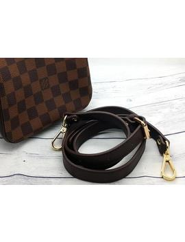 """Real Crossbody Leather Strap Replacement 42 48.8"""" 107 124cm Matches Damier Ebene Louis Vuitton Bags Speedy Monceau Metis Alma Pouch Felicie by Etsy"""
