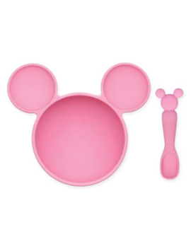Bumkins® Disney® Minnie Mouse Bowl And Spoon Feeding Set In Pink by Bumkins