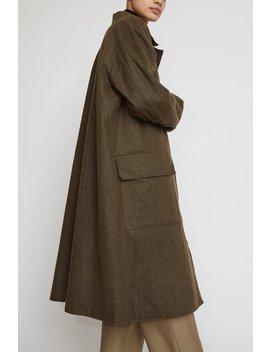 Amomento Reversible Trench Coat In Khaki by Amomento