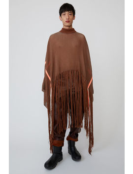 Oversized Poncho Brown/Orange by Acne Studios