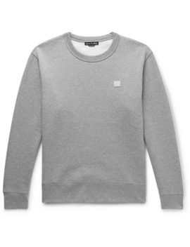 Fairview Logo Appliquéd Mélange Fleece Back Cotton Jersey Sweatshirt by Acne Studios