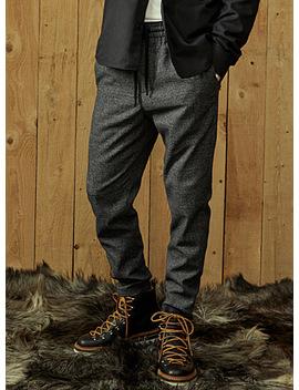 Le Pantalon Jogger Prince De Galles Obscur by Only & Sons