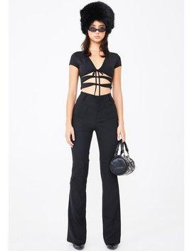 Black Valencia Pants by I Am Gia