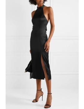 Regina Halterneck Satin Midi Dress by Alice + Olivia