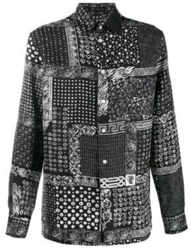 Bandana Print Shirt by Versace