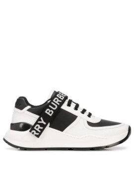 Logo Strap Sneakers by Burberry