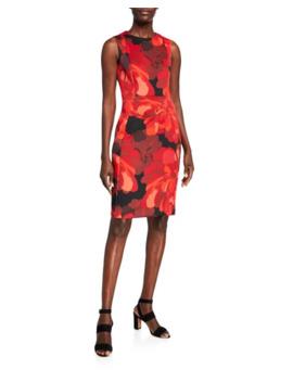 Calvin Klein Sleeveless Floral Printed Sheath Dress by Calvin Klein