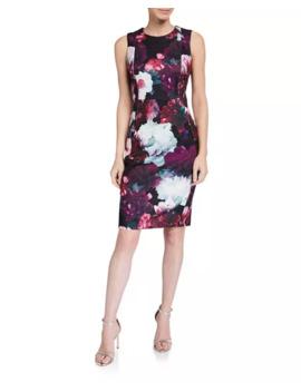 Calvin Klein Floral Sheath Dress by Calvin Klein