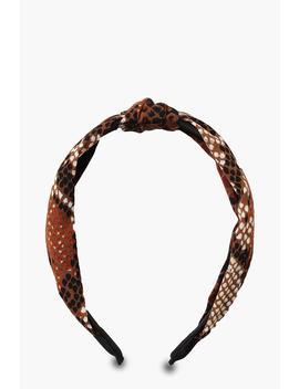 Snake Twist Knot Headband by Boohoo