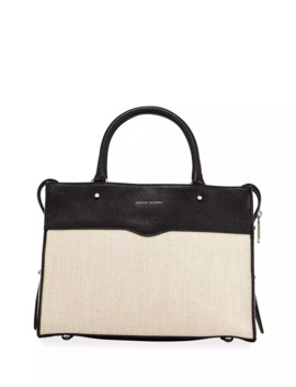 Bedford Zip Linen Satchel Bag by Rebecca Minkoff