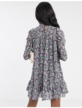 Missguided Tall Puff Sleeve Smock Dress In Floral Print by Missguided's