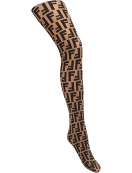 Logo Stockings by Fendi