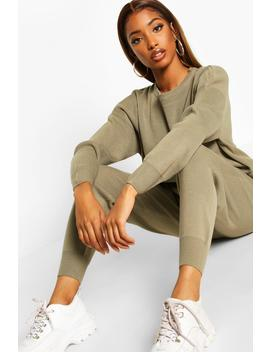 Knitted Jumper & Jogger Co Ord by Boohoo