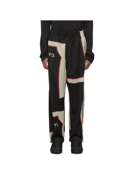 Pantalon De Survêtement Contrasté Noir by Y 3