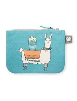 Llamarama Large Zipper Pouch by Uncommon Goods