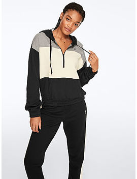 Colorblock Quarter Zip Pullover by Pink