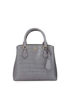 Robinson Croc Embossed Small Tote Bag by Tory Burch