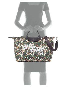 Camouflage 18 Inch Large Travel Bag by Longchamp