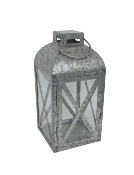Mainstays Medium Galvanized Metal Candle Holder Lantern by Mainstays