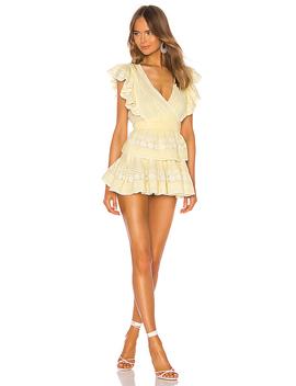 Gwen Dress In Gilded Yellow by Love Shack Fancy