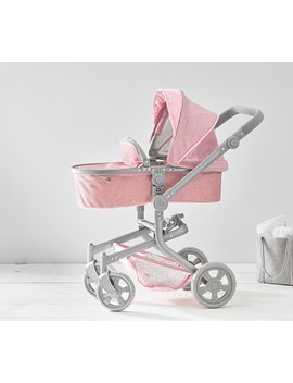 Pink Glitter Convertible 3 In 1 Doll Stroller by Pottery Barn Kids