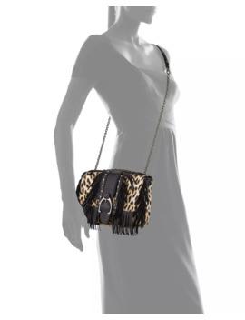 Amazone Fringed Leopard Crossbody Bag by Longchamp
