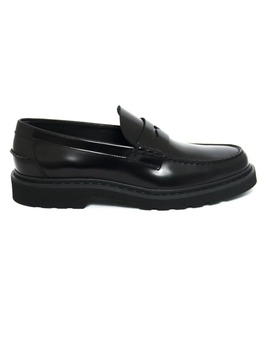 Tod's Loafers In Black Leather by Tod's