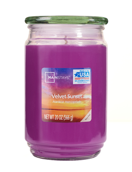 Mainstays Velvet Sunset Single Wick 20 Oz. Jar Candle by Mainstays