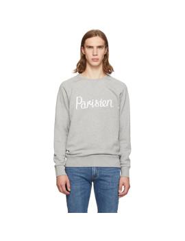 Grey 'parisien' Sweatshirt by Maison KitsunÉ