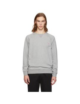 Grey Tricolor Fox Sweatshirt by Maison KitsunÉ