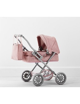 Pink Glitter Mini Pram Doll Stroller by Pottery Barn Kids