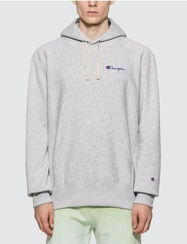 Small Script Hooded Sweatshirt by              Champion Reverse Weave