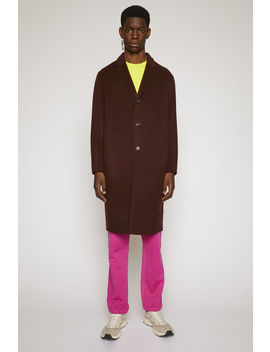 Double Faced Wool Coat Maroon Red by Acne Studios