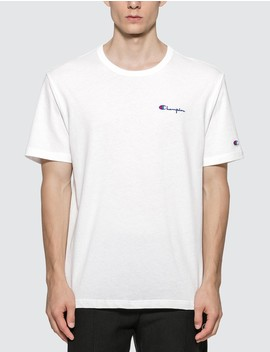 Small Script Crewneck T Shirt by              Champion Reverse Weave