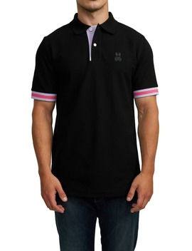 Savoy Tipped Piqué Polo by Psycho Bunny