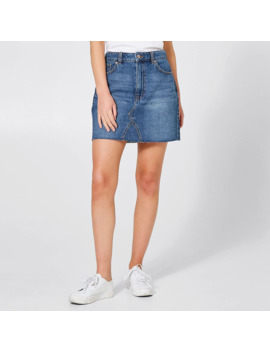 Denim Frayed Edge Skirt   Mid Wash by Target