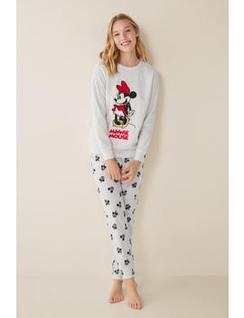 Women's Long Minnie Mouse Fleece Pyjamas by Women'secret