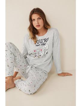 """You're Not Alone"" Long Snoopy Pyjamas by Women'secret"