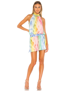 X Revolve Kimmie Dress In Tie Dye by Amanda Uprichard