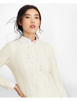Supima® Cotton Pointelle Cable Knit Sweater by Brooks Brothers