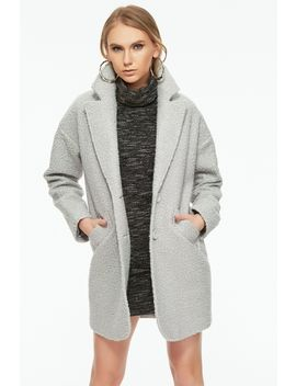 Grey Boucle Oversized Coat by Select