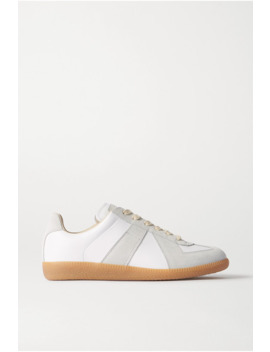 Replica Leather And Suede Sneakers by Maison Margiela