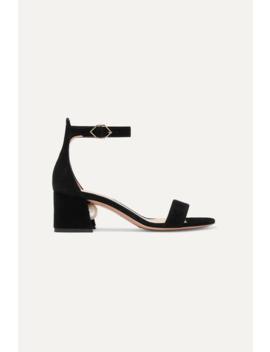 Miri Faux Pearl Embellished Suede Sandals by Nicholas Kirkwood