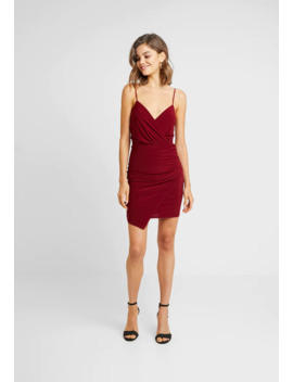 Slinky Wrap Over Mini Dress   Vestido De Tubo by Missguided