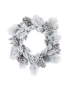 """Holiday Time Colorado Flocked Un Lit Wreath, 24"""" by Holiday Time"""
