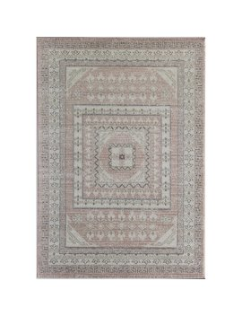 Kimble Pink/Ivory/Gray Area Rug by World Menagerie