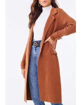 Brushed Knit Duster Jacket by Forever 21